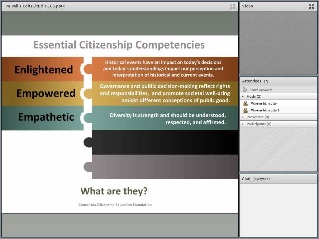 Essential Citizenship Competencies