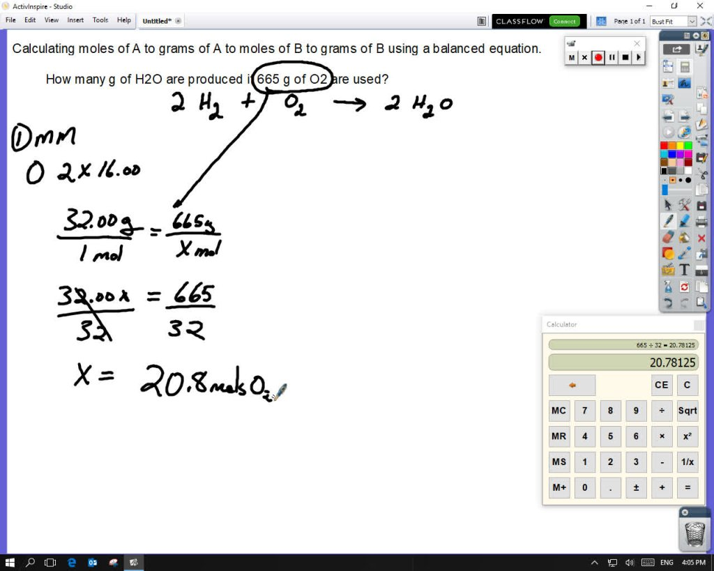 Converting Grams of One Compound to Grams of Another Using the Mole Ratio From a Balanced Equation